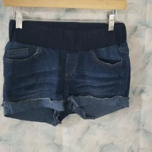 Belly by design maternity jean shorts Sm Like New